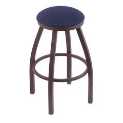 "Holland Bar Stool Co. 802 Misha 30"" Bar Stool with Bronze Finish, Axis Denim Seat, and 360 swivel"