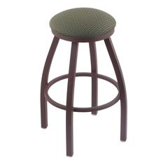 "Holland Bar Stool Co. 802 Misha 30"" Bar Stool with Bronze Finish, Axis Grove Seat, and 360 swivel"