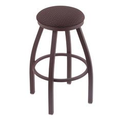 "802 Misha 25"" Counter Stool with Bronze Finish, Axis Truffle Seat, and 360 swivel"
