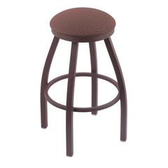 "802 Misha 36"" Bar Stool with Bronze Finish, Axis Willow Seat, and 360 swivel"