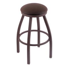 "802 Misha 30"" Bar Stool with Bronze Finish, Rein Coffee Seat, and 360 swivel"