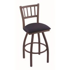 "810 Contessa 36"" Bar Stool with Bronze Finish, Axis Denim Seat, and 360 swivel"