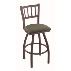 "Holland Bar Stool Co. 810 Contessa 36"" Bar Stool with Bronze Finish, Axis Grove Seat, and 360 swivel"