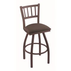 """810 Contessa 25"""" Counter Stool with Bronze Finish, Axis Truffle Seat, and 360 swivel"""