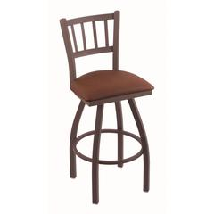 "810 Contessa 30"" Bar Stool with Bronze Finish, Rein Adobe Seat, and 360 swivel"