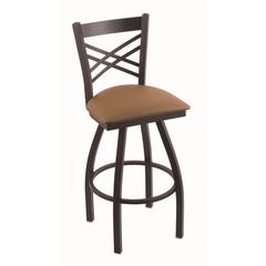 "Holland Bar Stool Co. 820 Catalina 30"" Bar Stool with Black Wrinkle Finish, Allante Beechwood Seat, and 360 swivel"