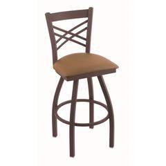 "820 Catalina 30"" Bar Stool with Bronze Finish, Allante Beechwood Seat, and 360 swivel"