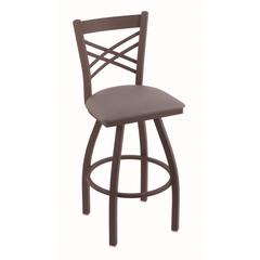 "820 Catalina 30"" Bar Stool with Bronze Finish, Allante Medium Grey Seat, and 360 swivel"