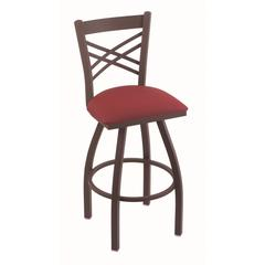 "820 Catalina 30"" Bar Stool with Bronze Finish, Allante Wine Seat, and 360 swivel"