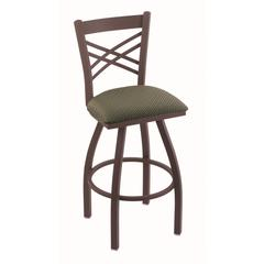"820 Catalina 30"" Bar Stool with Bronze Finish, Axis Grove Seat, and 360 swivel"