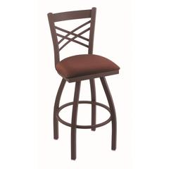"820 Catalina 25"" Counter Stool with Bronze Finish, Axis Paprika Seat, and 360 swivel"