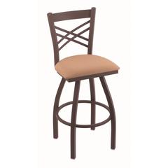 "Holland Bar Stool Co. 820 Catalina 30"" Bar Stool with Bronze Finish, Axis Summer Seat, and 360 swivel"