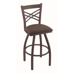 "Holland Bar Stool Co. 820 Catalina 25"" Counter Stool with Bronze Finish, Axis Truffle Seat, and 360 swivel"