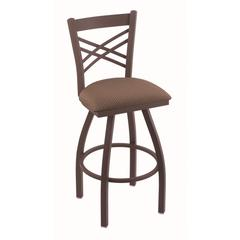 "820 Catalina 25"" Counter Stool with Bronze Finish, Axis Willow Seat, and 360 swivel"
