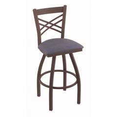 "820 Catalina 30"" Bar Stool with Bronze Finish, Rein Bay Seat, and 360 swivel"
