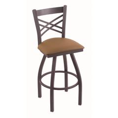 "Holland Bar Stool Co. 820 Catalina 25"" Counter Stool with Pewter Finish, Allante Beechwood Seat, and 360 swivel"