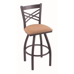 "Holland Bar Stool Co. 820 Catalina 25"" Counter Stool with Pewter Finish, Axis Summer Seat, and 360 swivel"