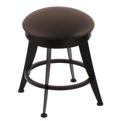 "900 Laser 18"" Vanity Stool with Black Wrinkle Finish, Allante Espresso Seat, and 360 Swivel"