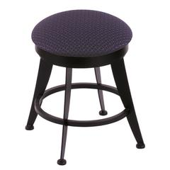 "Holland Bar Stool Co. 900 Laser 18"" Vanity Stool with Black Wrinkle Finish, Axis Denim Seat, and 360 Swivel"