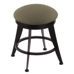 "Holland Bar Stool Co. 900 Laser 18"" Vanity Stool with Black Wrinkle Finish, Axis Grove Seat, and 360 Swivel"