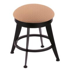 "900 Laser 18"" Vanity Stool with Black Wrinkle Finish, Axis Summer Seat, and 360 Swivel"