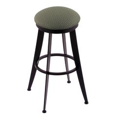 "Holland Bar Stool Co. 900 Laser 30"" Bar Stool with Black Wrinkle Finish, Axis Grove Seat, and 360 swivel"