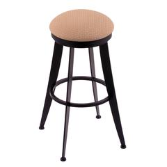 "Holland Bar Stool Co. 900 Laser 25"" Counter Stool with Black Wrinkle Finish, Axis Summer Seat, and 360 swivel"