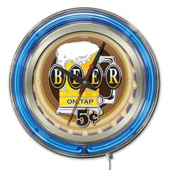 Beer 5 Cents Neon Clock