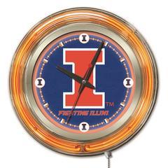 Illinois Neon Clock
