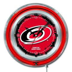 "Carolina Hurricanes 19"" Neon Clock"