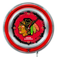 "Chicago Blackhawks 19"" Neon Clock"