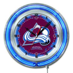 "Colorado Avalanche 19"" Neon Clock"