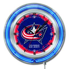 "Columbus Blue Jackets 19"" Neon Clock"