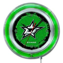 "Dallas Stars 19"" Neon Clock"