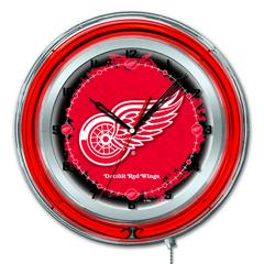 "Detroit Red Wings 19"" Neon Clock"