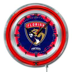 "Florida Panthers 19"" Neon Clock"