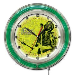 "Jimi Hendrix  19"" Neon Clock with Mircophone & Guitar Design"