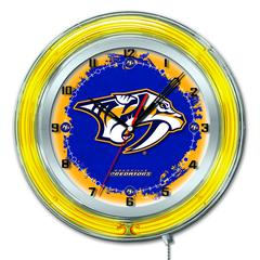 "Nashville Predators 19"" Neon Clock"