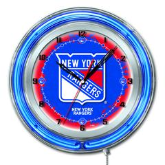 "New York Rangers 19"" Neon Clock"