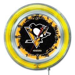 "Pittsburgh Penguins 19"" Neon Clock"