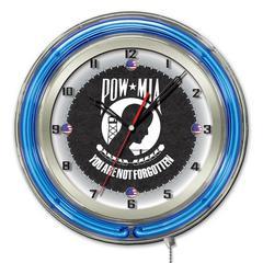 "POW/MIA 19"" Neon Clock"
