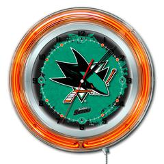 "San Jose Sharks 19"" Neon Clock"