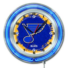 "St Louis Blues 19"" Neon Clock"