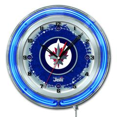 "Winnipeg Jets 19"" Neon Clock"