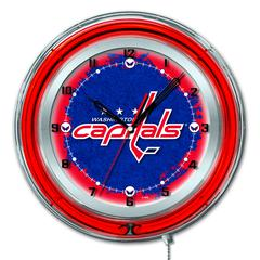 "Washington Capitals 19"" Neon Clock"
