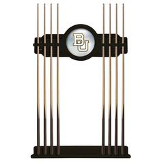 Baylor Cue Rack in Black Finish