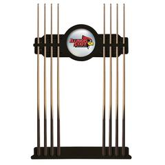 Illinois State Cue Rack in Black Finish
