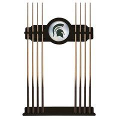 Michigan State Cue Rack in Black Finish