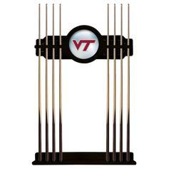 Virginia Tech Cue Rack in Black Finish