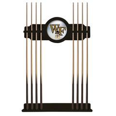 Wake Forest Cue Rack in Black Finish